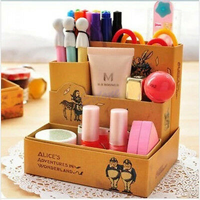 Paper Board Fairy Tale Storage Box Desk Stationery Makeup Cosmetic Organizer DIY