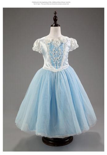 Girl/'s Cinderella Dress Kids Girls Costume Princess Party Fancy Cape Dress UK