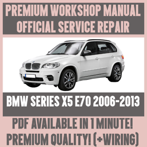 WORKSHOP MANUAL SERVICE & REPAIR GUIDE for BMW X5 E70 2006-2013 + ...