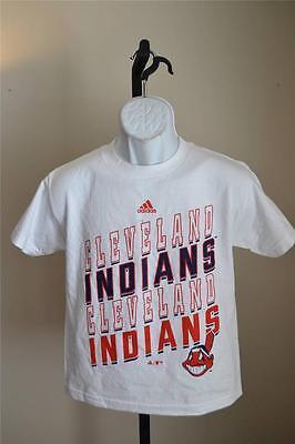 Baseball & Softball Cleveland Indians Jugendgrößen S-m Weißes Shirt Von Adidas VerrüCkter Preis Humorvoll New-minor Flaw Fanartikel