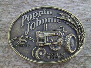 John Deere Tractor Belt Buckle Antique Bronze  NEW