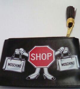 Clutch stop gratis Envío Moschino Nuevo R1q5HW