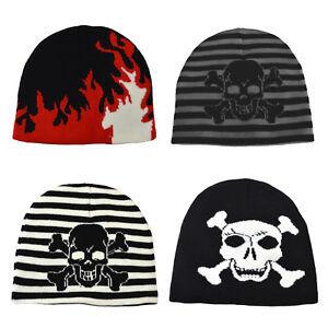 Image is loading Childrens-Skull-amp-Crossbones-Beanie-Hat 717d87dde0b