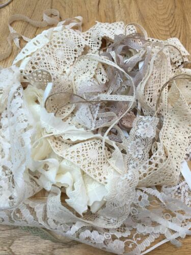 Nylon 25 mts from £6.75 f pp Vintage mix lace Bundles Broderie Anglaise Cotton
