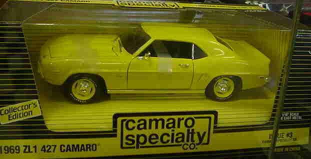 El nuevo outlet de marcas online. 1969 Camaro Zl1 Amarillo 1 1901 1 18 Ertl Ertl Ertl American Muscle 29082  barato