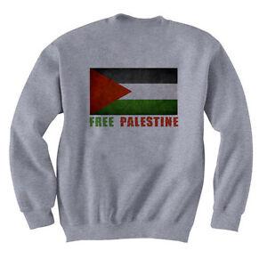 Felpa Palestine Freedom Grigio le Pullover Tutte taglie PUqavv