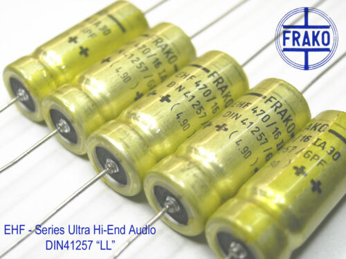 x 800 PIECES LL 470uF- 16V FRAKO  EHF Series Ultra Audio Grade DIN41257 !