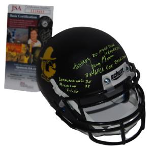 JERRY MOORE signed (APPALACHIAN STATE MOUNTAINEERS) mini helmet JSA LL18413