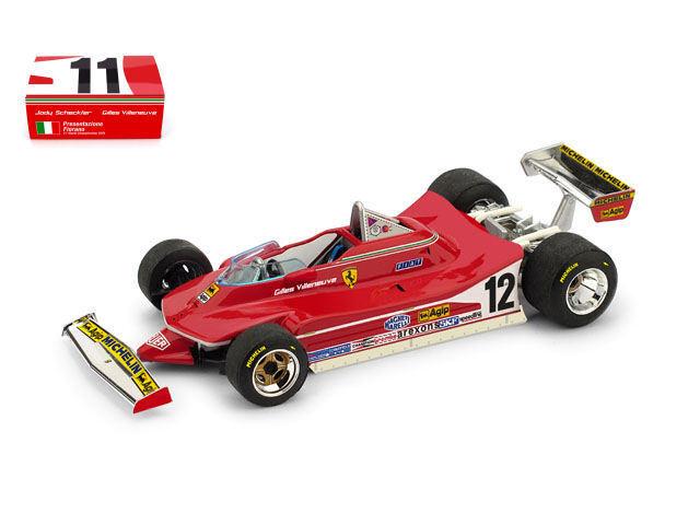 Ferrari 312 T4 Presentazione Fiorano 1979 F1 Formula 1 1 1 1 43 Model S1401 BRUMM 02318b