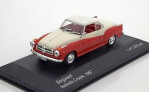 BORGWARD-ISABELLA-COUPE-1957-ROUGE-BEIGE-WHITEBOX-WB128-1-43-ROT-RED-ROSSO