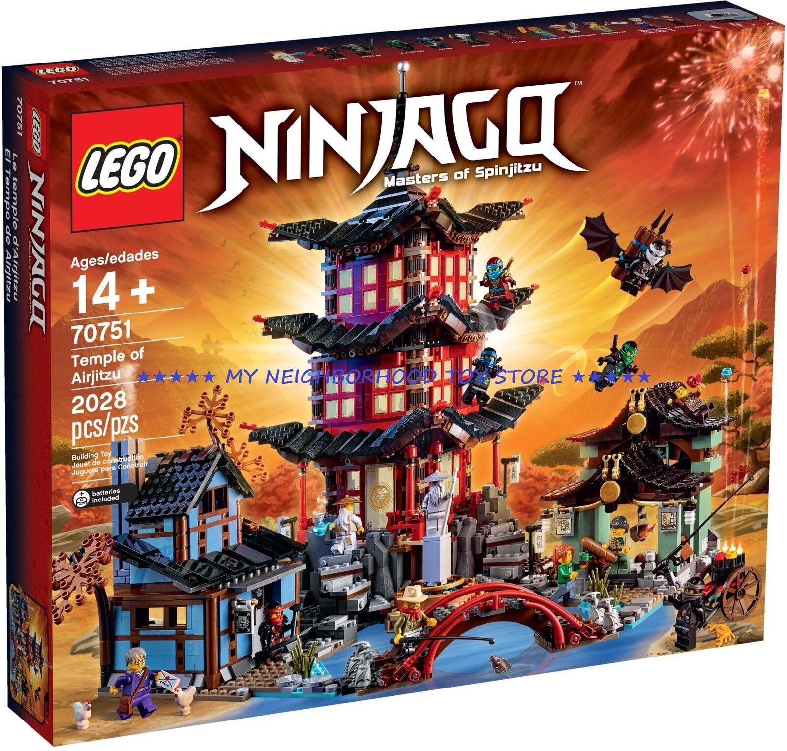 RETIrojo PRONTA CONSEGNA - LEGO 70751 NINJAGO IL TEMPIO DI AIRJITZU TEMPLE OF
