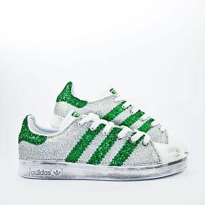 ... scarpe-adidas-stan-smith-con-glitter-fino-argento-