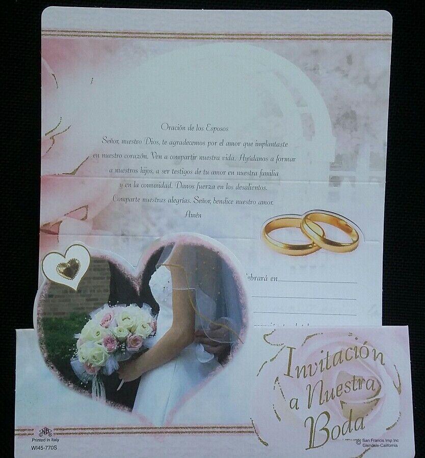 Favors Fiesta Matrimonio Spanish Wedding Invitations 20 Invitaciones De Boda