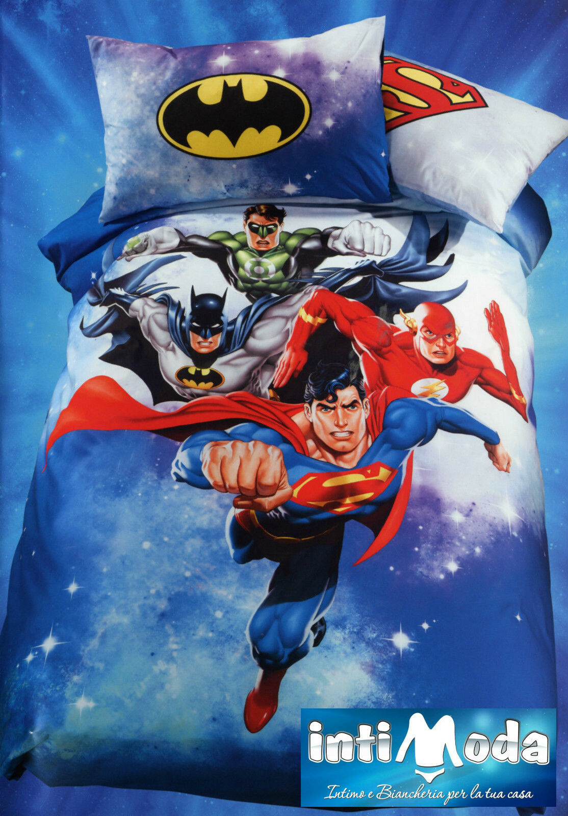 Copripiumino Caleffi Justice League Supereroi Stampa Digitale con federa double