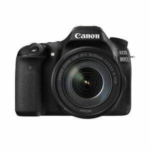 Canon EOS 80D DSLR Camera with 18-135mm IS NANO USM Lens Kit Ship From EU