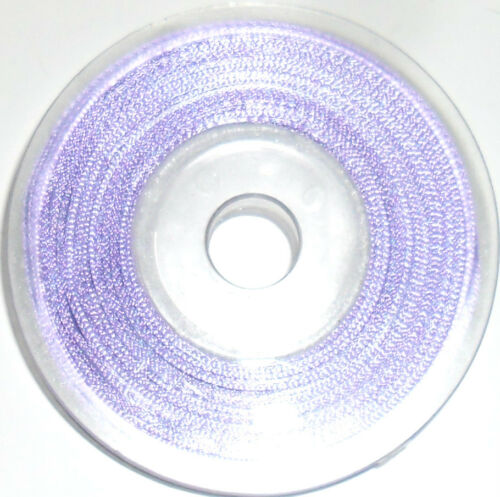 25MTR REEL 3MM TOP QUALITY DOUBLE SIDED SATIN RIBBON ASSORTED COLOURS