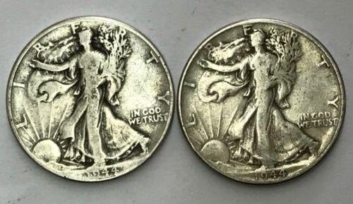 2-TWO-90 /% Silver-Walking Liberty-Half-Dollars