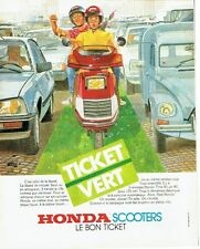 PUBLICITE ADVERTISING 0217  1984   les scooters Honda spacy 125 ticket vert