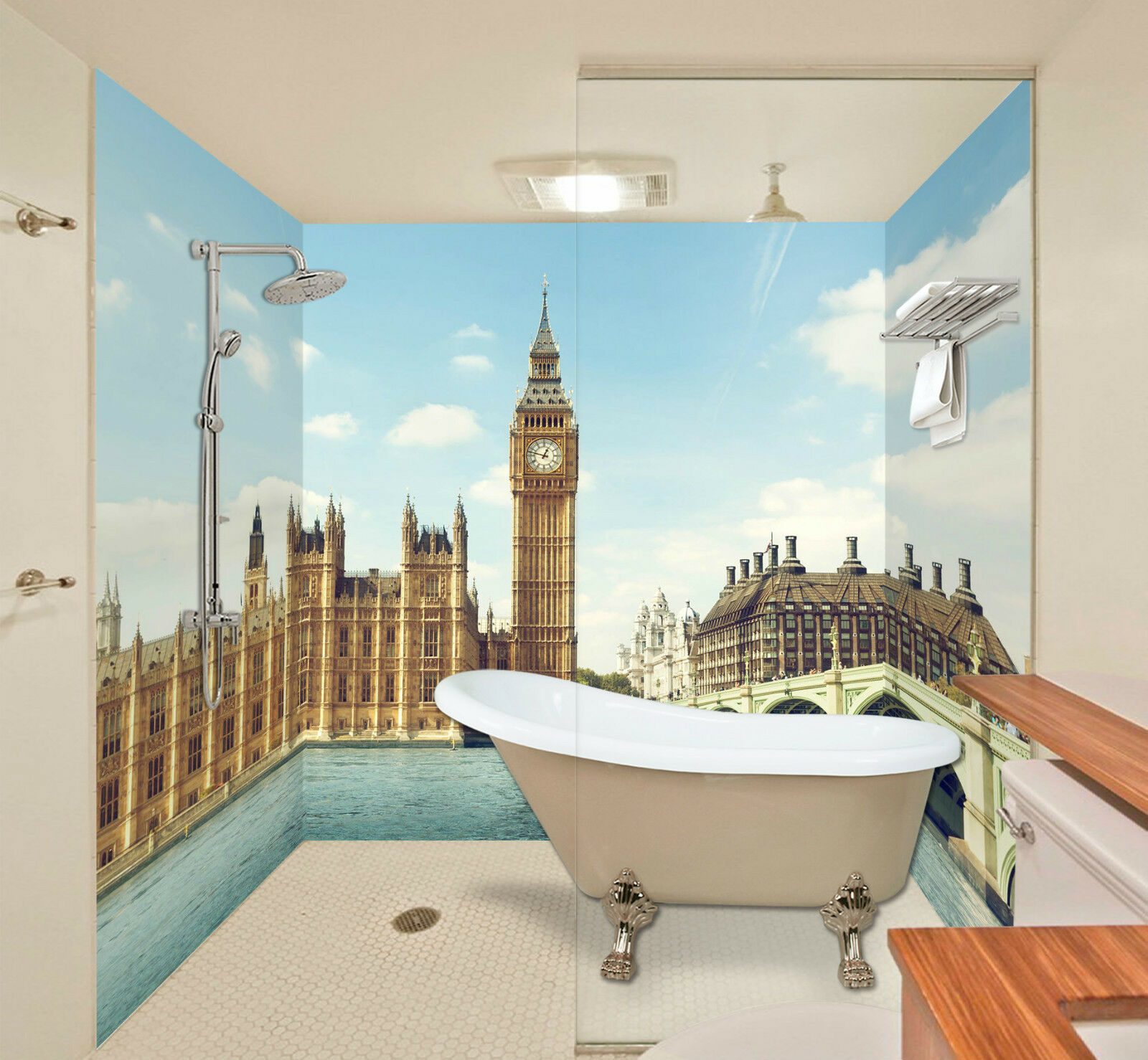 3D London Scenery 067 WallPaper Bathroom Print Decal Wall Deco AJ WALLPAPER CA