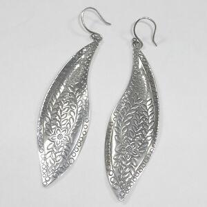 035430361 Image is loading Silpada-Sterling-Silver-Leaf-Flower-Earrings-W2281-Etched-