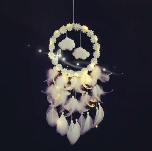 Colorful Cloud Dream Catcher Bedroom Nursery Wall Hanging Baby Shower Decor Led