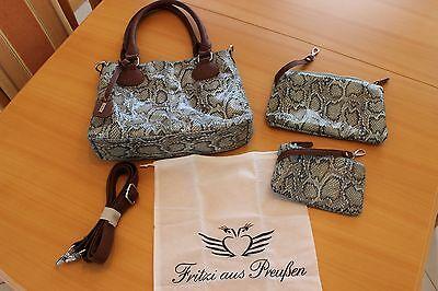 Remonte Damen Handtasche Tasche Shopper (3 TEILE) 36x26x7cm Türkis NEU!!