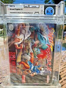 Street Fighter II Super Nintendo SNES WATA Grade 6.5 Sealed A 🔥 HADOUKEN!