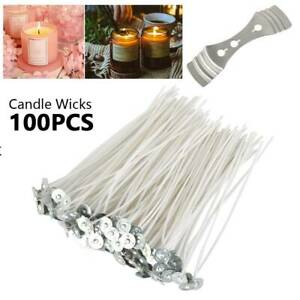 100PCS-Candle-Wicks-6-Inch-Cotton-Core-Candle-Making-Supplies-Pretabbed-NEW