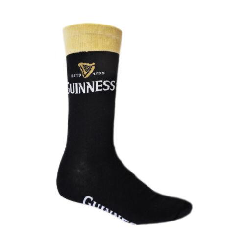 Schwarze und Beige Guinness-Socken