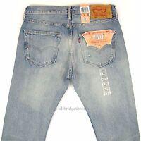 Levis 501 Jeans New Mens Size 31 x 32 LIGHT BLUE DISTRESSED Original Levi's NWT