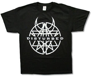 """DISTURBED """"BLACK & WHITE BELIEVE"""" BLK T-SHIRT NEW OFFICIAL ADULT BAND"""