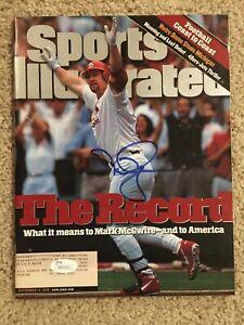 MARK MCGWIRE Signed 9/14/98 1998 Baseball Sports Illustrated JSA WP22652