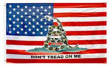 3x5 USA American Gadsden Don't Tread On Me Flag 3'x5' Banner Brass Grommets