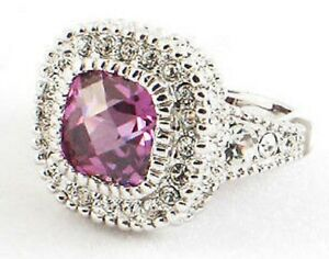 Sterling-Silver-Victorian-Style-Amethyst-Ring-Size-7