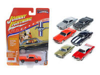 Muscle Cars Usa Set Of 6 Cars 1/64 Diecast Models By Johnny Lightning Jlmc002-d