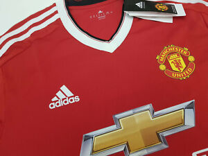 huge selection of d9215 d494d Details about Adidas Adizero Manchester United 15/16 Player Issue Home  Shirt BNWT