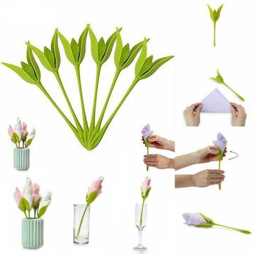 1 Stück Serviettenhalter Napkin Holders Tables Flower Blumen Kunststoff Geschenk