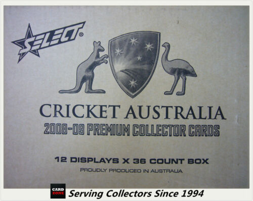 2008-09 Select Cricket Trading Cards Factory Case (12 Boxes + Case Card)