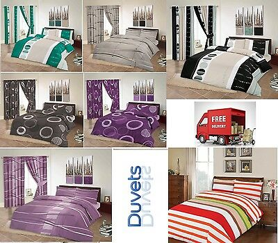 100% EGYPTIAN COTTON DUVET SET QUILT COVER + PILLOWCASES DOUBLE KING SUPER KING