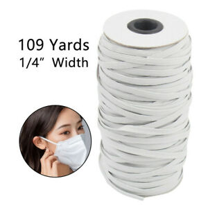 100m 3 6mm Elastic Bands For Face Width Elastic Cord For Craft