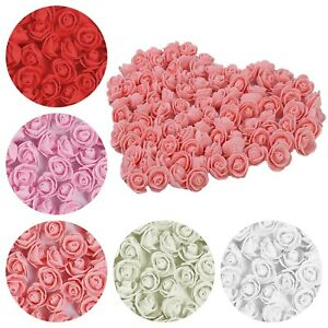 Foam-Mini-Roses-WHOLESALE-Head-Buds-Small-Flowers-Wedding-Home-Party-X100