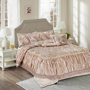 43458d200e Tache 6PC Luxury Roses Sequin Elegant Wedding Bed Bedding Comforter ...