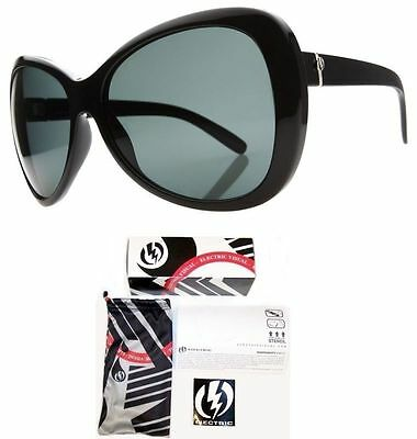NEW Electric Magenta Black Grey Polarized Womens Oversize Sunglasses Msrp$150