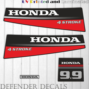 Honda 30hp 4 stroke outboard engine decals//sticker kit