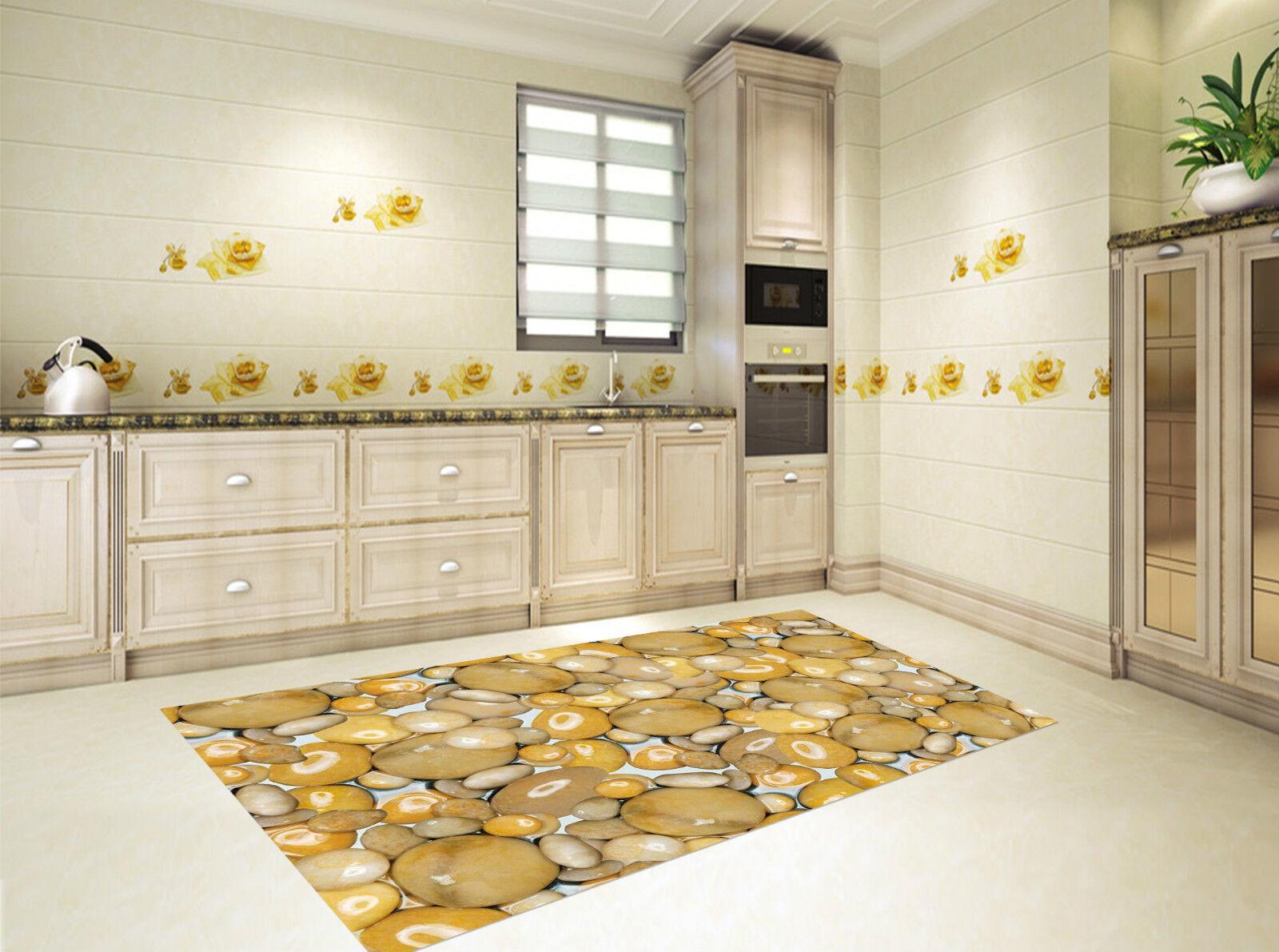 3D Cailloux Jaunes Lisses 4 4 4 Décor Mural Murale De Mur De Cuisine AJ WALLPAPER FR | Techniques Modernes  b6dfa0