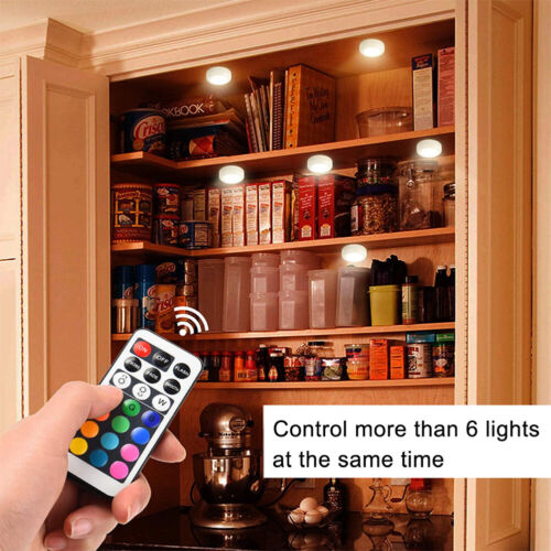 6x Wireless LED Cabinet Light Touch Sensor Dimmable Stair Kitchen Cupboard Lamp