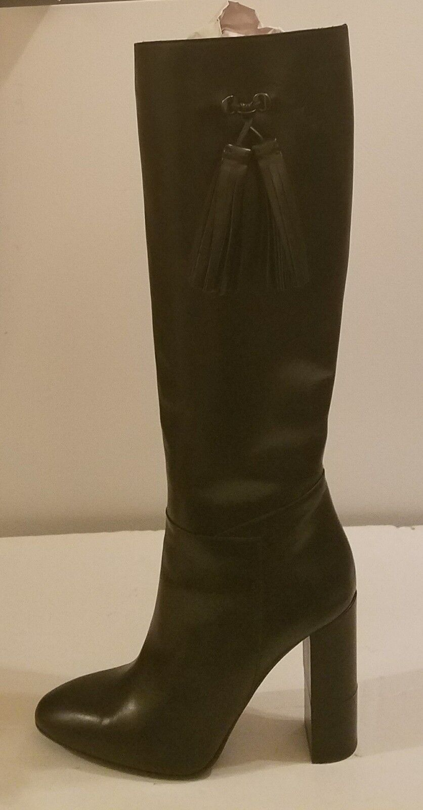 Aquatalia Evelina Knee High  Tall Black Boots Sz 10