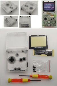 Clear-White-Transparent-Shell-Housing-Case-For-Nintendo-Game-Boy-Advance-SP