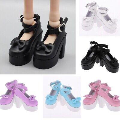 Multicolor PU High Heel Ankle Strap Shoes for 1//3 BJD Dollfie Dolls Sandles