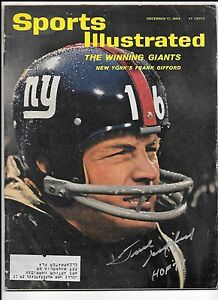Frank-Gifford-Autograph-Signed-Sport-illustrated-12-17-62-New-York-Giants